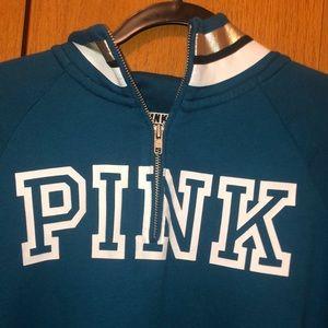 PINK Victoria's Secret Tops - blue PINK sweatshirt. Never worn